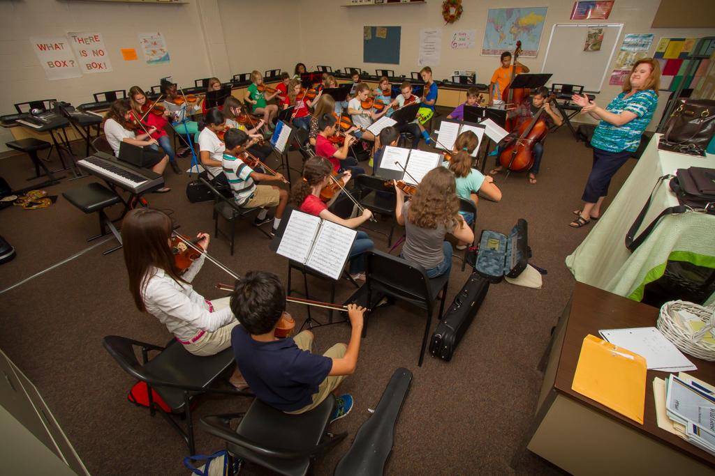 September 28, 2014 - Union Symphony Youth Orchestra rehearsals at Marvin Ridge High School, Waxhaw, NC  (Andy Majors / Majors Media Group).