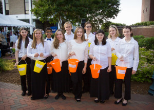 Youth students taking donations